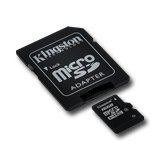 Memory ( flash cards ) KINGSTON SDC4/16GB Kingston  16GB microSDHC Class 4 Flash Card + SD Adapter, EAN: '740617173741