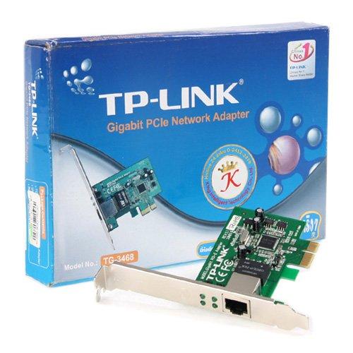Network Interface Card TP-LINK TG-3468 NIC TP-Link TG-3468, 32-bit Gigabit PCIe Network Adapter, Realtek RTL8168B, 10/100/1000Mbps RJ45 port, Auto MDI/MDIX