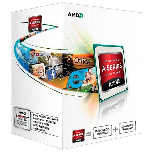 CPU Desktop AMD AD5300OKHJBOX AMD CPU Trinity A4-Series X2 5300 (3.40GHz,1MB,65W,FM2) box, Radeon TM HD 7480D