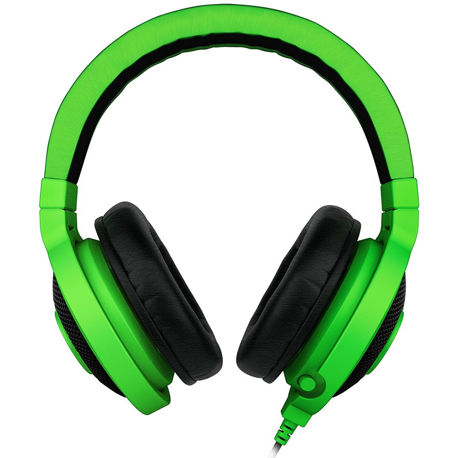 Multimedia - Headset RAZER RZ04-00870100-R3M1 Headset Kraken Pro Green-FRML,microphone, 20-20000Hz, input power 50 mW, drivers: 40 mm with neodimium magnets, 1.3m cable, 3.5 mm combinet jack