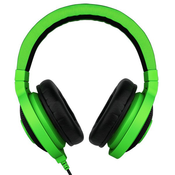 "Multimedia - Headset RAZER RZ12-00870100-R3M1 Headphones Kraken Green, 20- 20000Hz, 32 Om, 50mW, 1.3m cable+ 2m extension cable, 3.5""' headphone jack, 280g"
