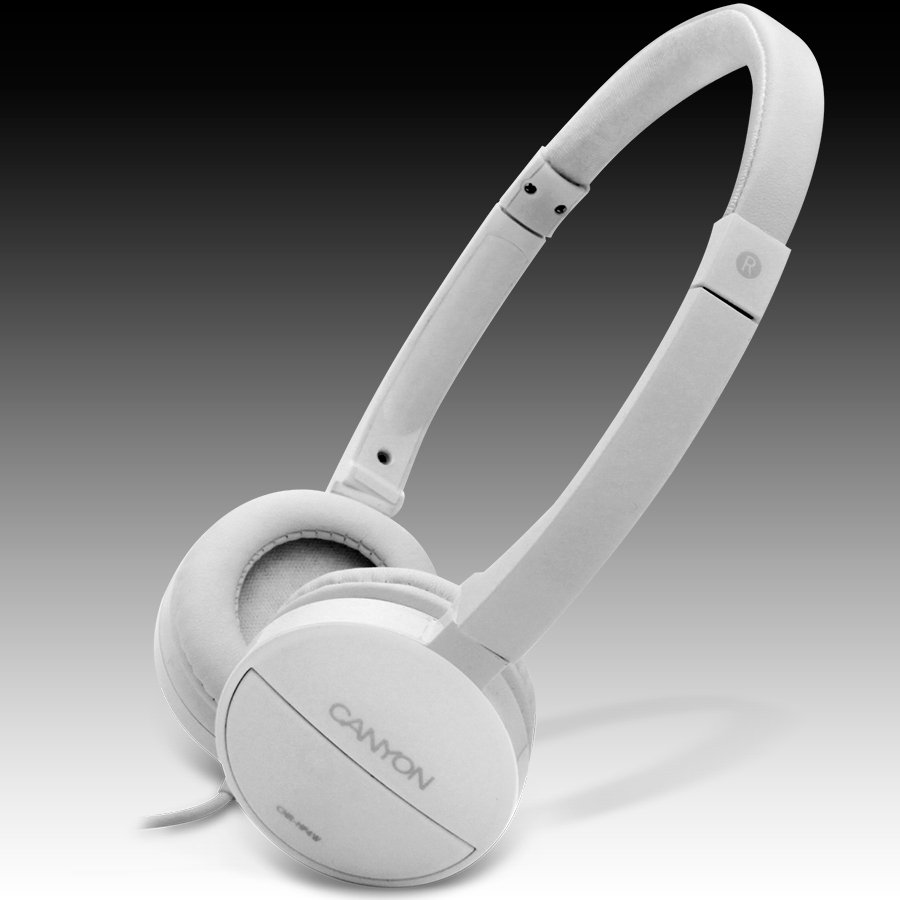 Multimedia - Headset CANYON CNR-HP04NW Canyon Headphones ; color: white; Impedance: 32 Ohm;  Frequency Response: 20Hz-20kHz ; Sensitivity: 106 dB ; cable length: 1.8m ; stereo 3.5mm plug