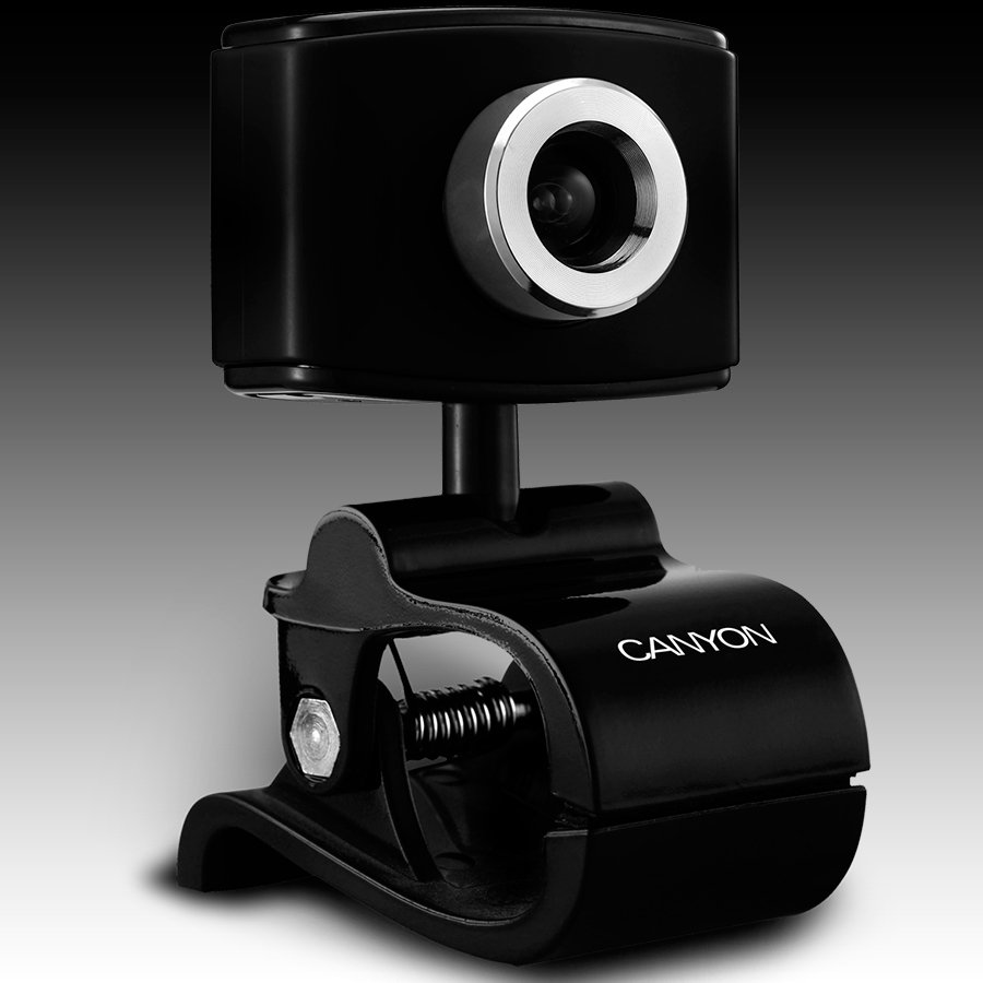 Web Camera CANYON CNF-WCAM02B 1.3M pixels webcam with mic.built-in
