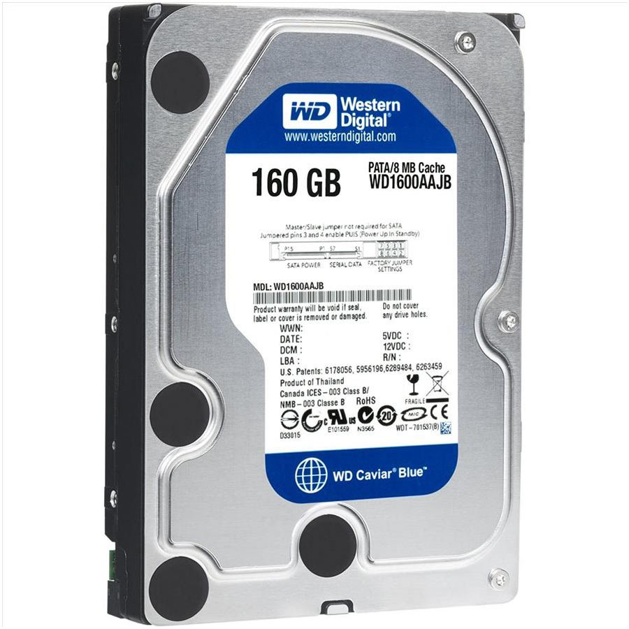 "HDD Desktop WESTERN DIGITAL WD1600AAJB_1Y WD Blue HDD Desktop (3.5"",160GB,8MB,IDE)"