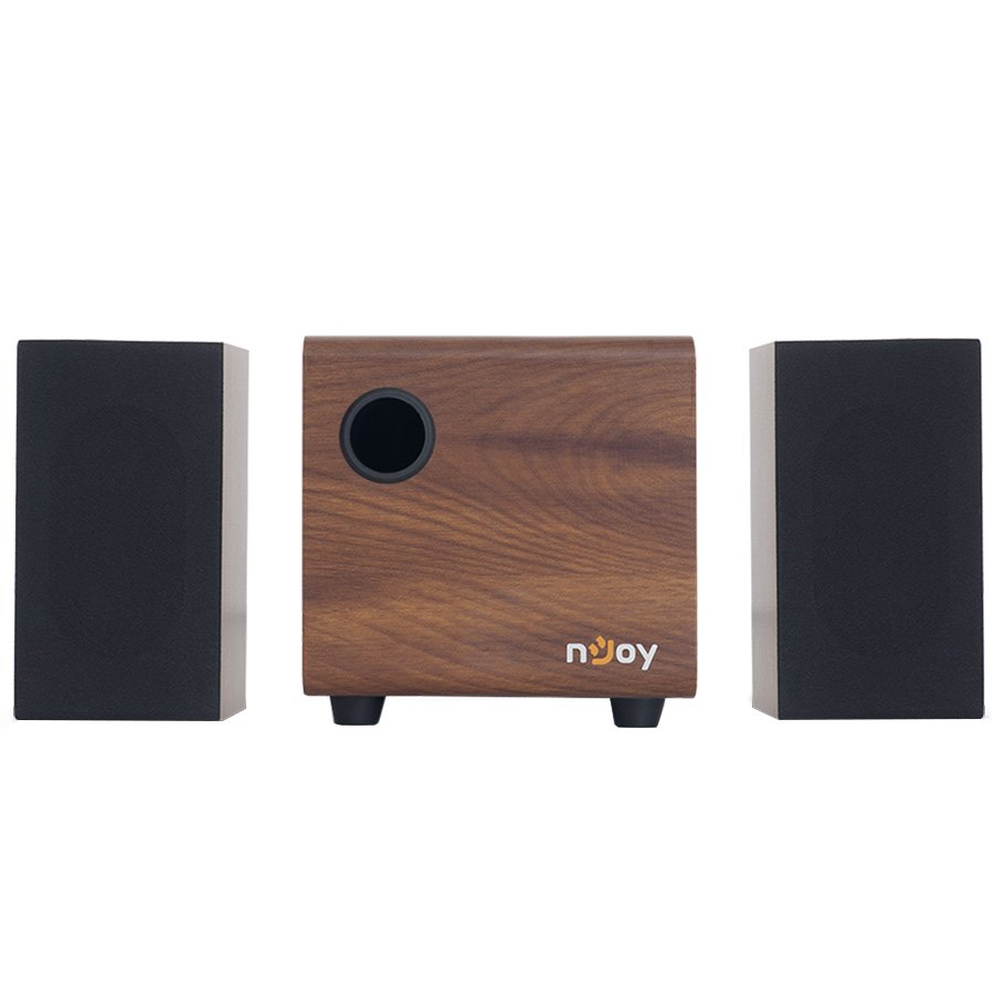 "Multimedia - Speaker NJOY MMSP-21UJ10B-BA01B Multimedia - Speaker NJOY Totek 2.1 (10W, Multimedia Speakers 2.1, Wooden Subwoofer, 80Hz-20kHz, USB 2.0,3.5"" Audio jack, RoHS, Brown)"
