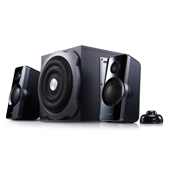 Multimedia - Speaker FENDA A511 Multimedia - Speaker F&D A511 (2.1, 48W, 90Hz-20kHz, Subwoofer: 45Hz-130Hz, wired volume control with second Aux in and headphone jack, Wooden,Black)
