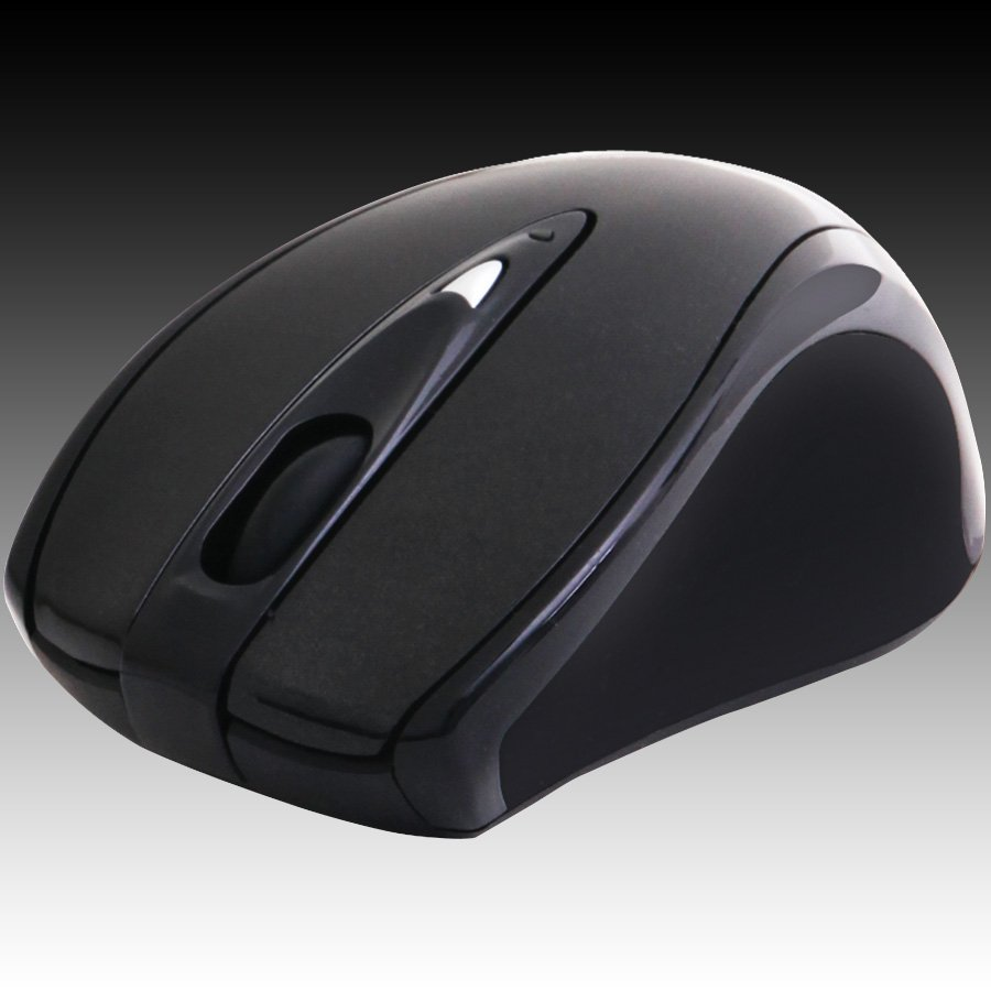 Input Devices - Mouse Box PRESTIGIO PMSOW04BK Мишка PRESTIGIO PMSOW04 (Безжичен 2.4GHz, Оптичен 800dpi/1600dpi,4 btn), Черен