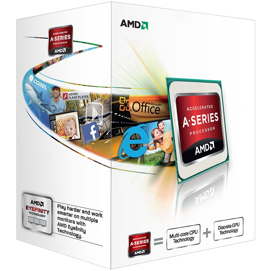 CPU Desktop AMD AD4000OKHLBOX AMD CPU Richland A4-Series X2 4000 (3.2GHz,1MB,65W,FM2) box, Radeon TM HD 7480D