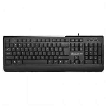 Input Devices - Keyboard Box DELUX DLK-6010P/PS2/BULG/BLACK Input Devices - Keyboard DELUX DLK-6010P PS2, Black