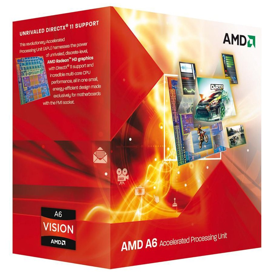 CPU Desktop AMD AD640KOKHLBOX AMD CPU Richland A6-Series X2 6400K (3.9GHz,1MB,65W,FM2) box, Black Edition, Radeon TM HD 8470D