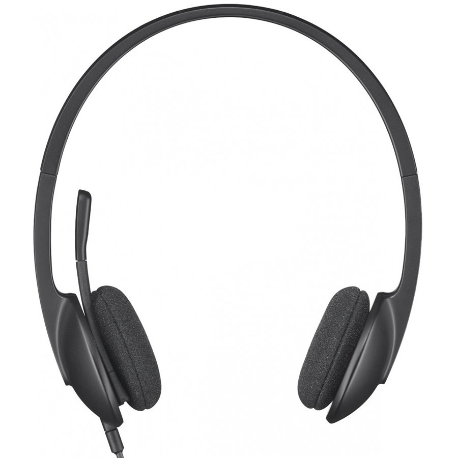 Multimedia - Headset LOGITECH 981-000475 LOGITECH Corded USB Headset H340 - EMEA - BLACK
