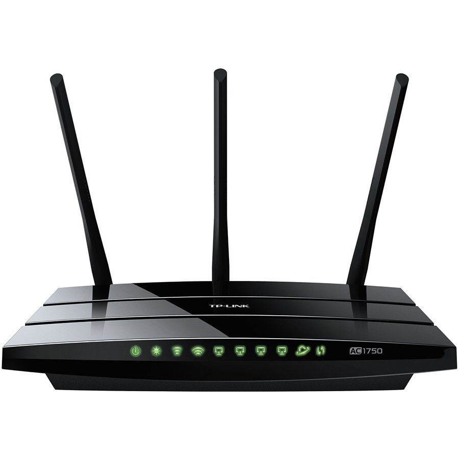Networking - Router TP-LINK ARCHER-C7 AC1750 Dual Band Wireless Gigabit Router, Atheros, 3T3R, 1300Mbps at 5Ghz + 450Mbps at 2.4Ghz, 802.11ac/a/b/g/n, 4-port Gigabit Switch, Wireless On/Off and WPS button, 2 USB ports, 3 external antennas