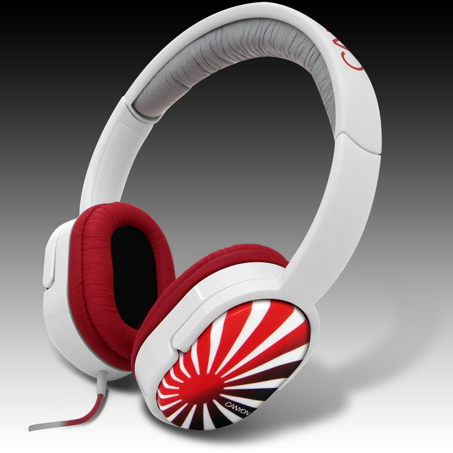 Multimedia - Headset CANYON CNL-HP03J Headphones CANYON CNL-HP03 Rising Sun (20Hz-20kHz, Кабел, 1.8m) Бял