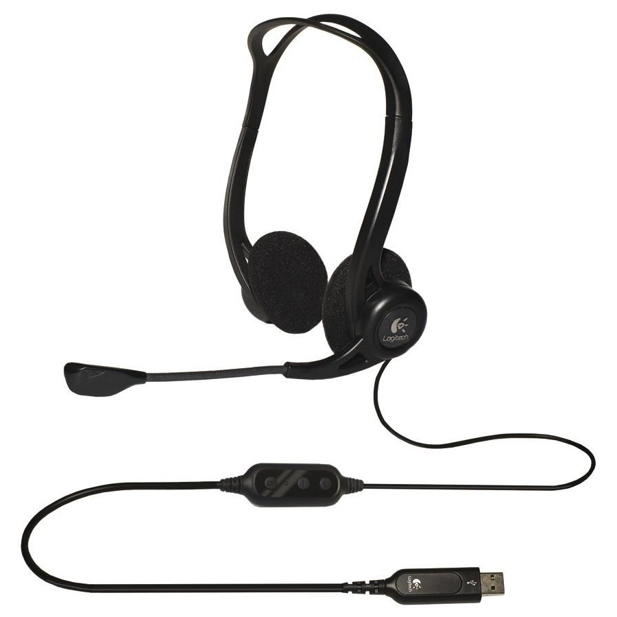 Multimedia - Headset LOGITECH 981-000100 LOGITECH Corded USB Stereo Headset PC 960 - Business EMEA
