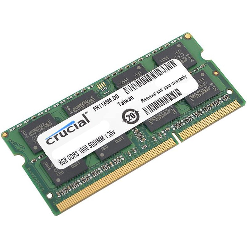 Memory ( Mobile ) CRUCIAL CT102464BF160B Crucial RAM 8GB DDR3 1600 MT/s  (PC3-12800) CL11 SODIMM 204pin 1.35V/1.5V