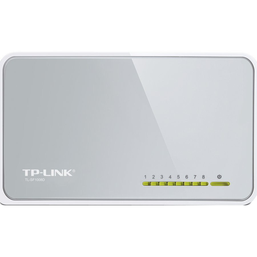 Network Switch TP-LINK TL-SF1008D Switch TP-Link TL-SF1008D, 8-Port RJ45 10/100Mbps desktop switch, Fanless, LED indicator, Auto Negotiation/Auto MDI/MDIX, Plastic case