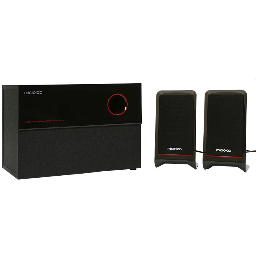 Multimedia - Speaker MICROLAB M200-3164-52004 Multimedia - Speaker MICROLAB M200 PLATINUM (2.1 Channel Surround, 50W, 35Hz-20kHz, RoHS, Black)