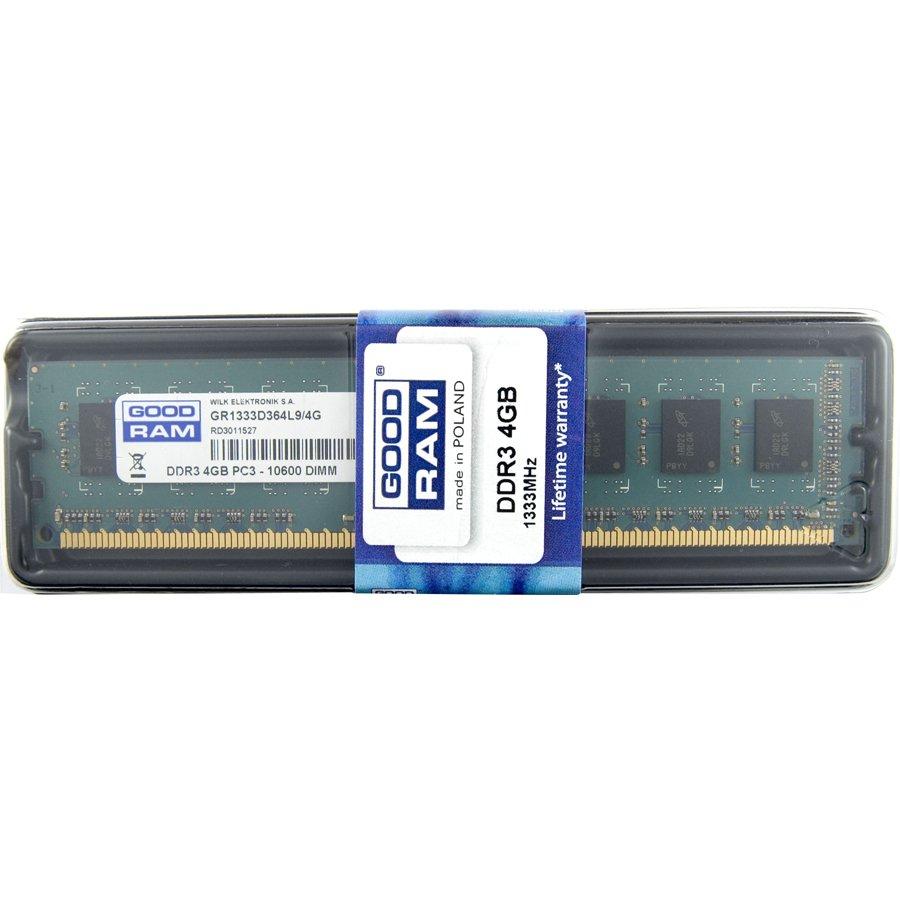 Memory ( Desktop ) GOODRAM GR1333D364L9S/4G Desktop memory 4GB 1333 MHz SR DIMM