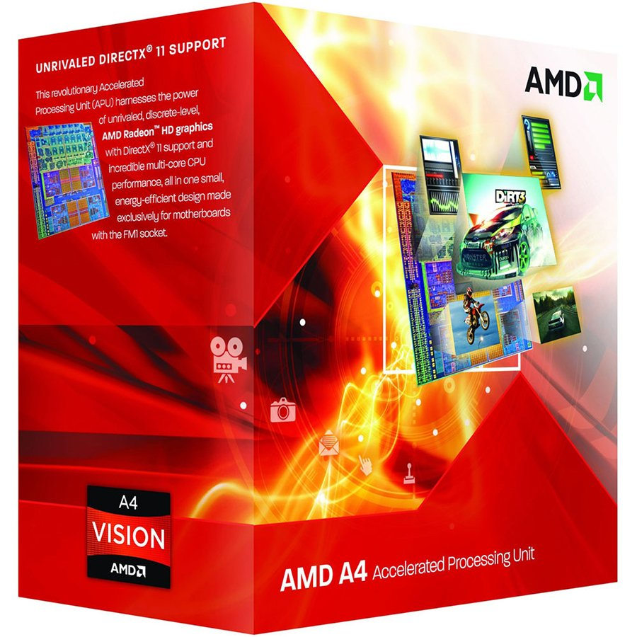 CPU Desktop AMD AD4020OKHLBOX AMD CPU Richland A4-Series X2 4020 (3.4GHz,1MB,65W,FM2) box, Radeon TM HD 7480D