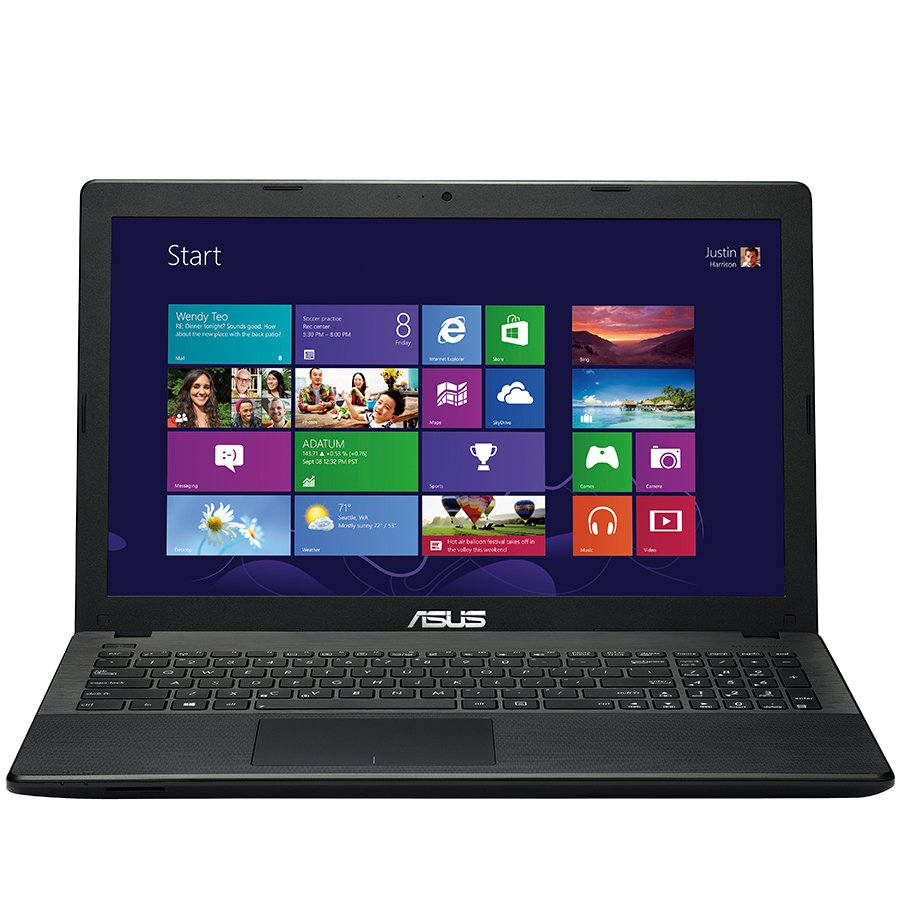 "PC Notebook ASUS X551MA-SX107D 15.6"" HD LED 1366x768, CPU Intel Celeron N2815 Dual Core up to 2.13G, Ram 2GB, HDD 500GB, VGA Intel HD Graphics Gen7 BayTrail, DVD, HDMI 1.4, HD Webcam, USB 3.0, SD+MMC card reader, 2.15kg."