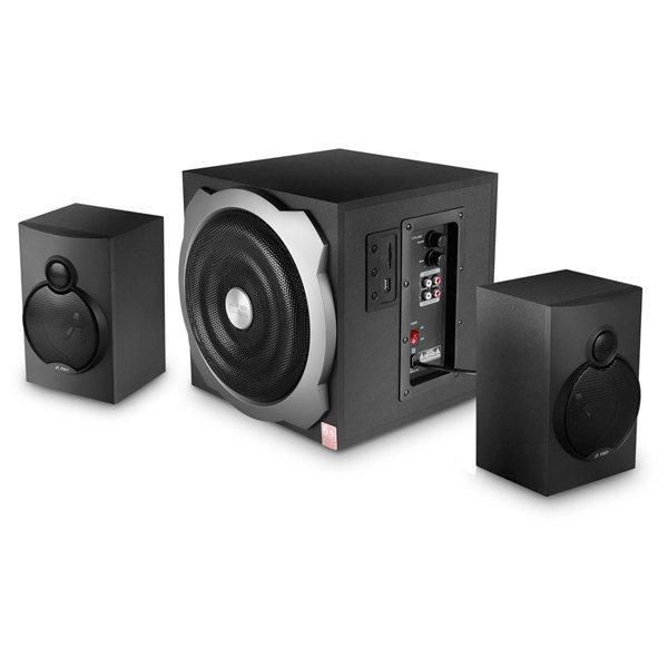 Multimedia - Speaker FENDA A521 Multimedia - Speaker F&D A521 (2.1 Channel Surround, 52W, 120Hz-20kHz, Subwoofer: 20Hz-120Hz, USB/SD card reader, Wooden, Black)