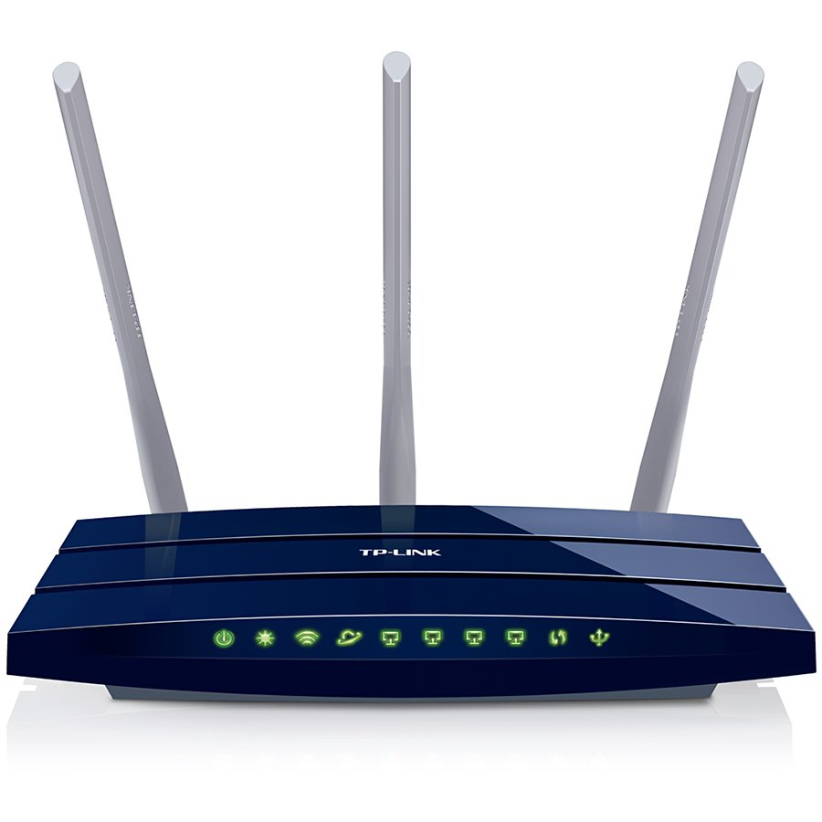Networking - Router TP-LINK TL-WR1043ND_BLACK Router TP-Link TL-WR1043ND, 2,4GHz Wireless N 300Mbps, 4 x 10/100/1000Mbps LAN Gigabit Ports, 1 x 10/100/1000Mbps WAN Gigabit Port, 1 x USB 2.0 Port, Detachable Omni DIrectional Antenna 3 x 5dBi  Black