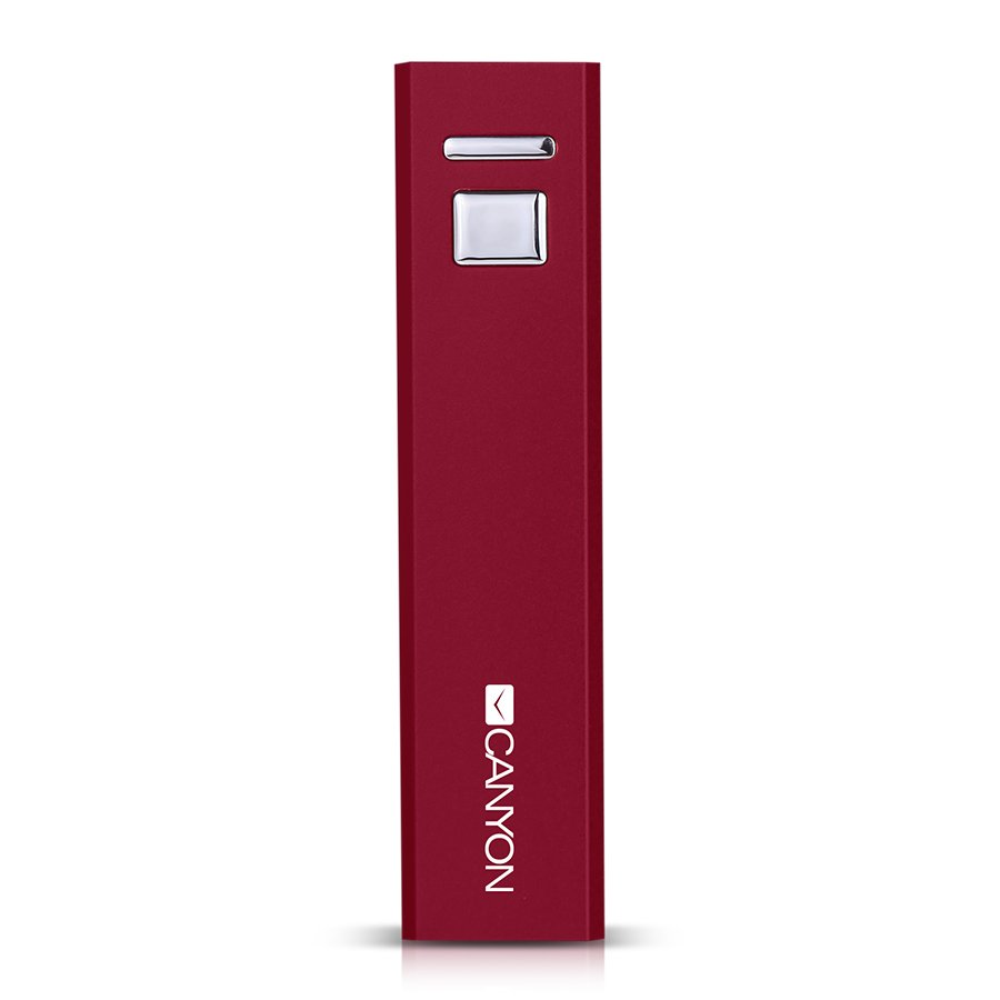 Power Bank CANYON CNE-CSPB26R CANYON CNE-CSPB26R Aluminium compact battery charger.  Color: red, Capacity: 2600mAh, Output: DC5V 1A, Input: DC5V 1A Output Charging: 1.5-2 hours, Input Charging: 2-3 hours. Cycle Life: 500 times