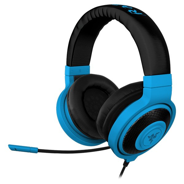 Multimedia - Headset RAZER RZ04-00870800-R3M1 Headset Kraken Pro Neon Blue –FRML with microphone, Headphones:20 – 20000 Hz, max input:50 mW, drivers:40 mm with neodimium magnets, 1.3m cable plus 2m splitter adapter, 3.5 mm combo jack, Microphone100 – 1000