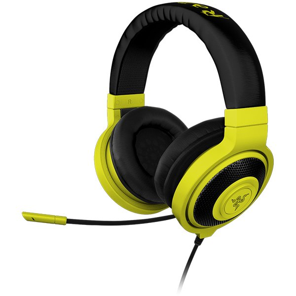 Multimedia - Headset RAZER RZ04-00871000-R3M1 Headset Kraken Pro Neon Yellow –FRML with microphone, Headphones:20 – 20000 Hz, max input:50 mW, drivers:40 mm with neodimium magnets, 1.3m cable plus 2m splitter adapter, 3.5 mm combo jack, Mic 100 – 10000 Hz