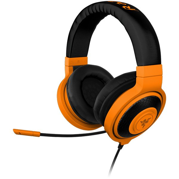Multimedia - Headset RAZER RZ04-00871100-R3M1 Headset Kraken Pro Neon Orange –FRML with microphone, Headphones:20 – 20000 Hz, max input:50 mW, drivers:40 mm with neodimium magnets, 1.3m cable plus 2m splitter adapter, 3.5 mm combo jack, Mic 100 – 10000 Hz