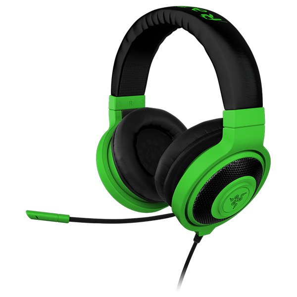 Multimedia - Headset RAZER RZ04-00870900-R3M1 Headset Kraken Pro Neon Green –FRML with microphone, Headphones:20 – 20000 Hz, max input:50 mW, drivers:40 mm with neodimium magnets, 1.3m cable plus 2m splitter adapter, 3.5 mm combo jack, Mic 100 – 10000 Hz,