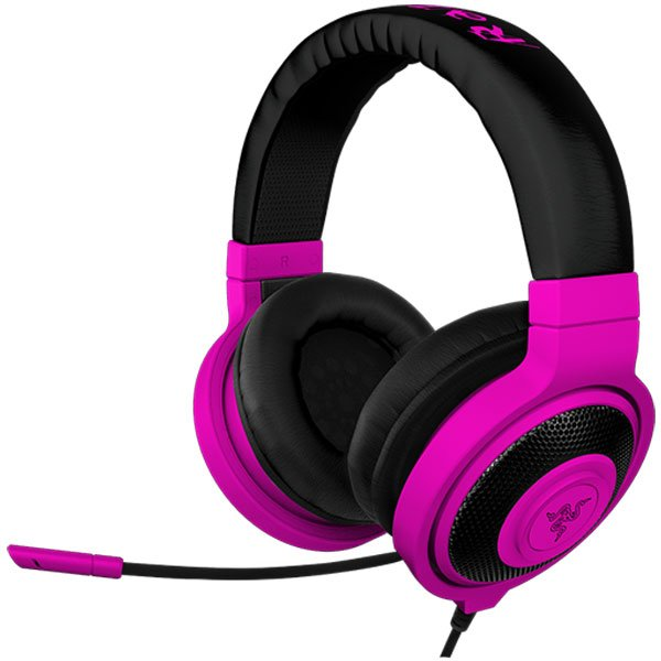 Multimedia - Headset RAZER RZ04-00871300-R3M1 Headset Kraken Pro Neon Purple –FRML with microphone, Headphones:20 – 20000 Hz, max input:50 mW, drivers:40 mm with neodimium magnets, 1.3m cable plus 2m splitter adapter, 3.5 mm combo jack, Mic 100 – 10000 Hz