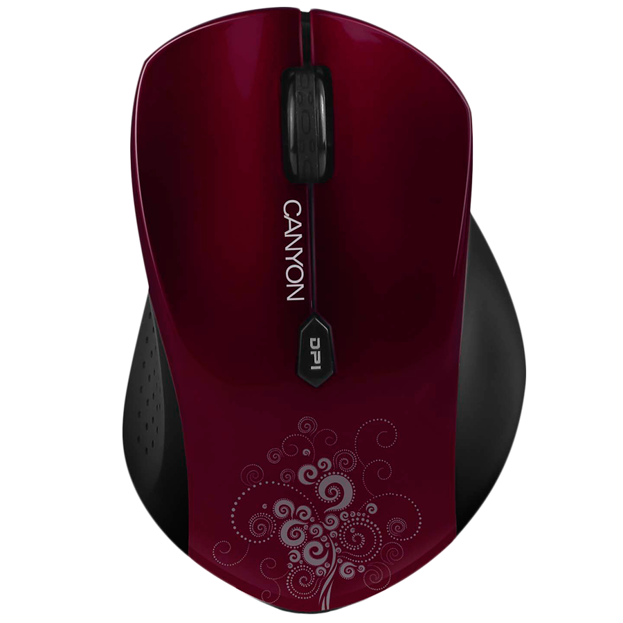 Input Devices - Mouse Box CANYON CNS-CMSW4R CANYON CNS-CMSW4 Mouse (Wireless, Optical 800/1280 dpi, 6 btn, USB, power saving technology), Red