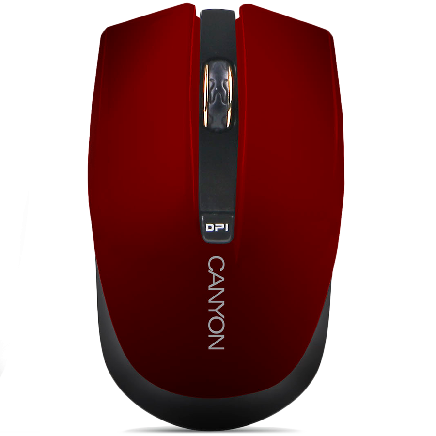 Input Devices - Mouse Box CANYON CNS-CMSW5R CANYON Mouse CNS-CMSW5 (Wireless, Optical 800/1280 dpi, 4 btn, USB, power saving technology), Red