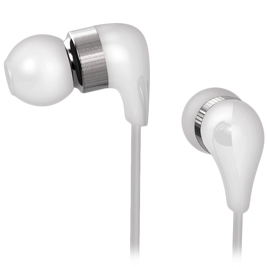 Multimedia - Headset CANYON CND-CEP1W CANYON ceramic housing earphones with inline microphone; carrying bag included; white