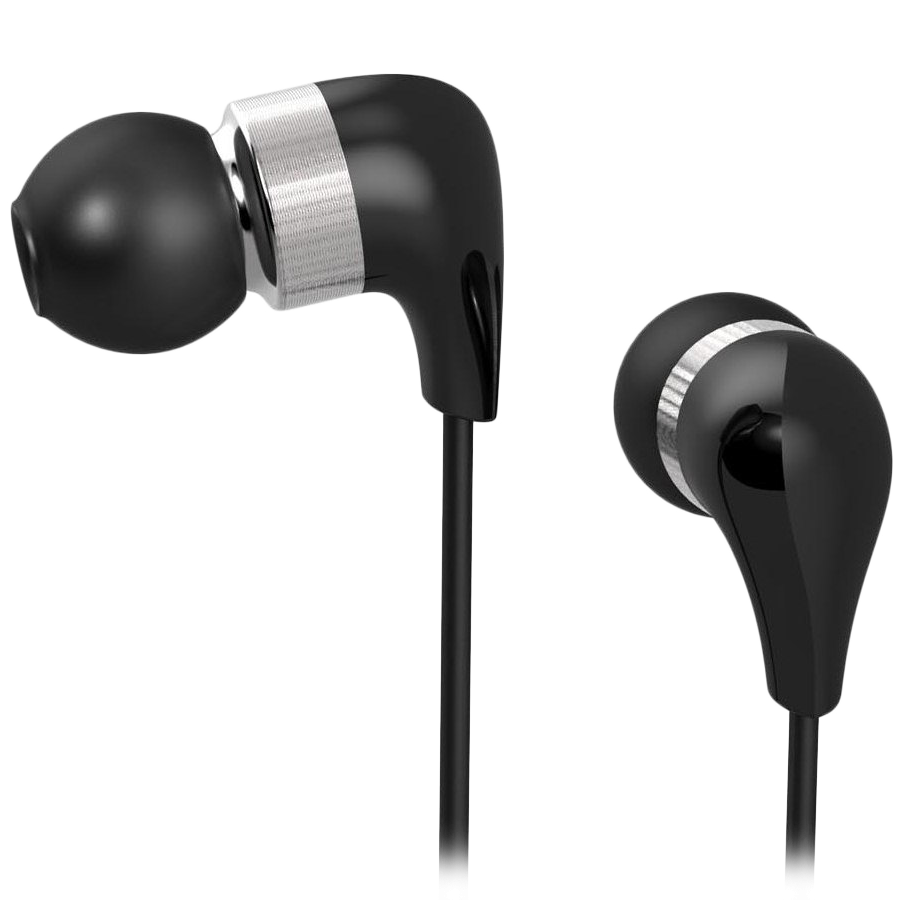 Multimedia - Headset CANYON CND-CEP1B CANYON ceramic housing earphones with inline microphone; carrying bag included; black