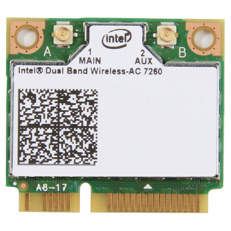 Network Interface Card INTEL 7260.HMWWB.R Мрежова Карта INTEL (Mini PCI-E, Bluetooth/Wi-Fi, 867Mbps, IEEE 802.11a/b/g/n/ac/Bluetooth 4.0)