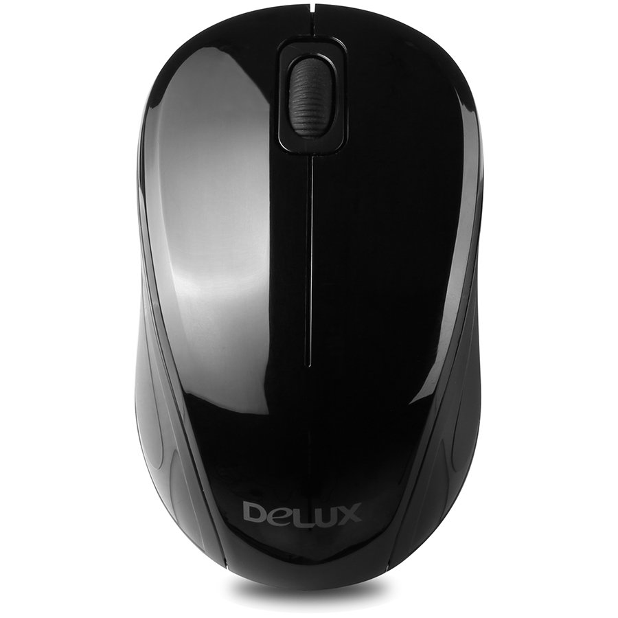 Input Devices - Mouse Box DELUX DLM-135GB-G23UF Input Devices - Mouse DELUX DLM-135GB (Wireless 2400MHz, Optical 1000dpi,3 btn), Black