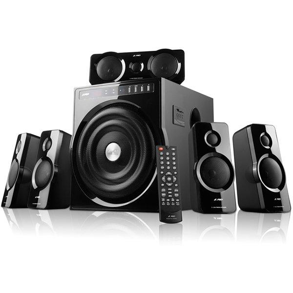 Multimedia - Speaker FENDA F6000U Multimedia - Speaker FENDA F6000U (5.1 Channel Surround, 123W, 150Hz-120kHz, Subwoofer: 30Hz-120Hz, USB/SD card reader, FM, remote control, Wooden, Black)