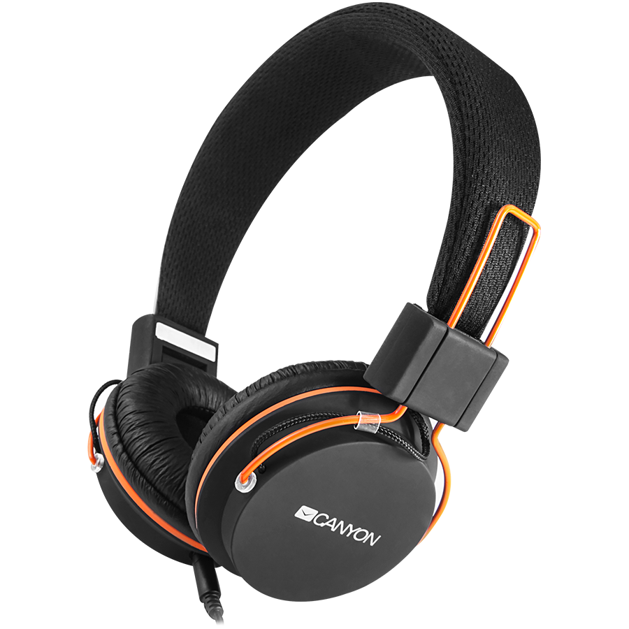 Multimedia - Headset CANYON CNE-CHP2 Canyon headphones, detachable cable with microphone, foldable, black