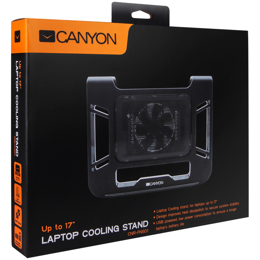 Cooling stand for Notebook CANYON CNR-FNS01 Canyon Laptop Cooling Stand for laptop up to 17', black color