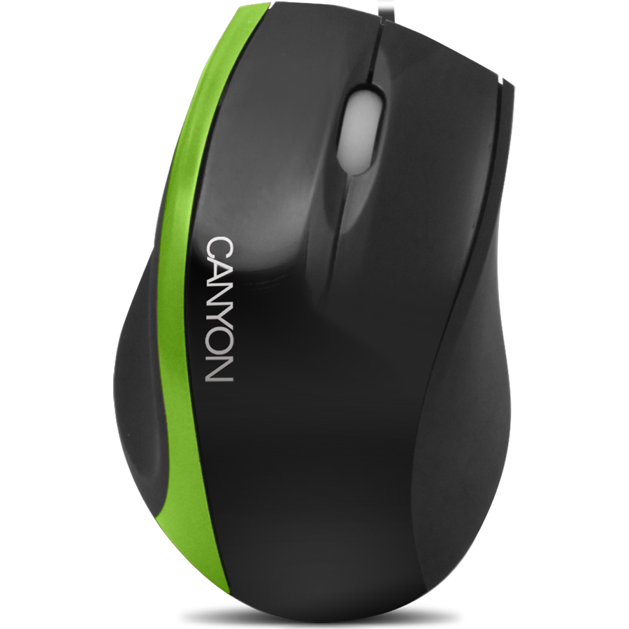 Input Devices - Mouse Box CANYON CNR-MSO01NG Input Devices - Mouse Box CANYON CNR-MSO01N (Cable, Optical 800dpi,3 btn,USB), Black/Green