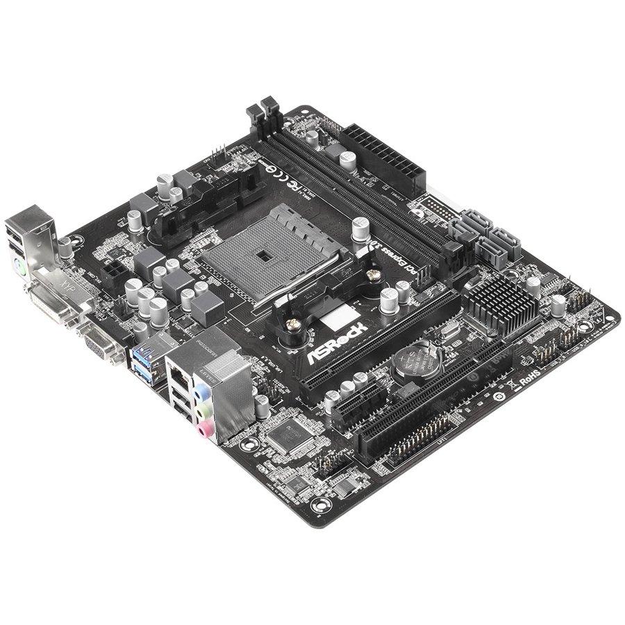 Main Board Desktop ASROCK FM2A68M-DG3_PLUS ASROCK Main Board Desktop AMD A68H (sFM2,2xDDR3,6ch,SATA III,GLAN,USB 3.0, DVI) mATX Box