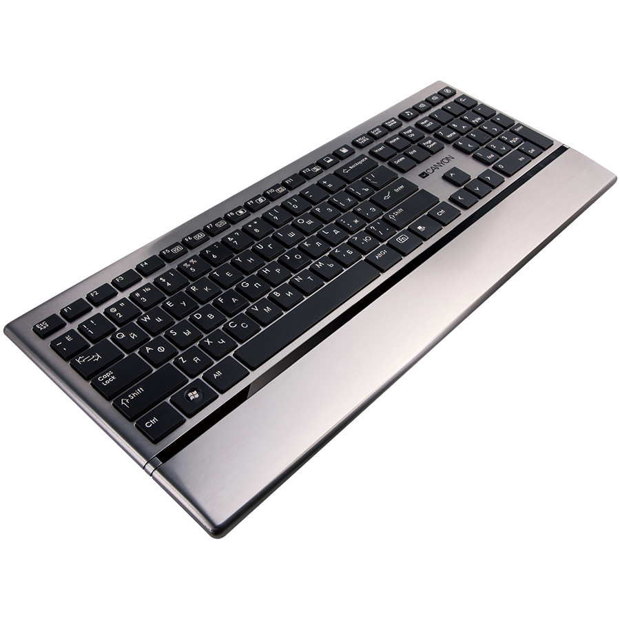 Input Devices - Keyboard Box CANYON CNS-HKB4-BG Stylish ultra-slim USB multimedia keyboard,BG layout