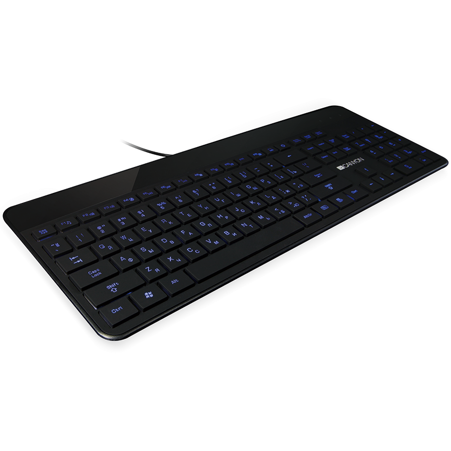 Input Devices - Keyboard Box CANYON CNS-HKB5-BG Slim stylish USB multimedia keyboard Compact design, LED backlight, BG layout