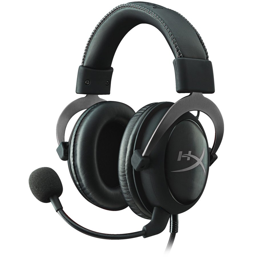 Multimedia - Headset KINGSTON KHX-HSCP-GM Kingston HyperX Gaming Headset, Cloud II Pro, gun metal, 53mm drivers, USB/3.5mm jack, noise-cancellation microphone, aluminium frame, Audio Control Box, 1m + 2m extension , EAN: 740617235678