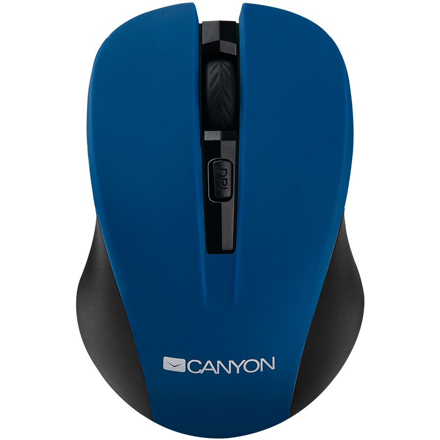 Input Devices - Mouse Box CANYON CNE-CMSW1BL CANYON Mouse CNE-CMSW1(Wireless, Optical 800/1000/1200 dpi, 4 btn, USB, power saving button), Blue