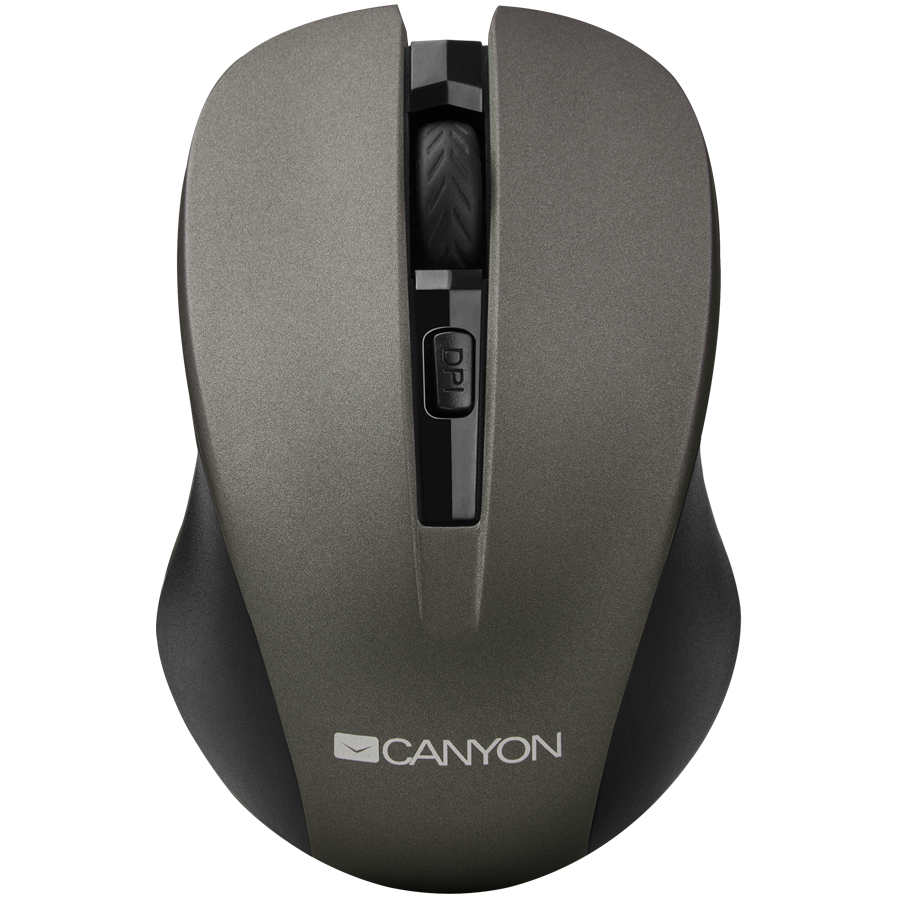 Input Devices - Mouse Box CANYON CNE-CMSW1G CANYON Mouse CNE-CMSW1(Wireless, Optical 800/1000/1200 dpi, 4 btn, USB, power saving button), Graphite