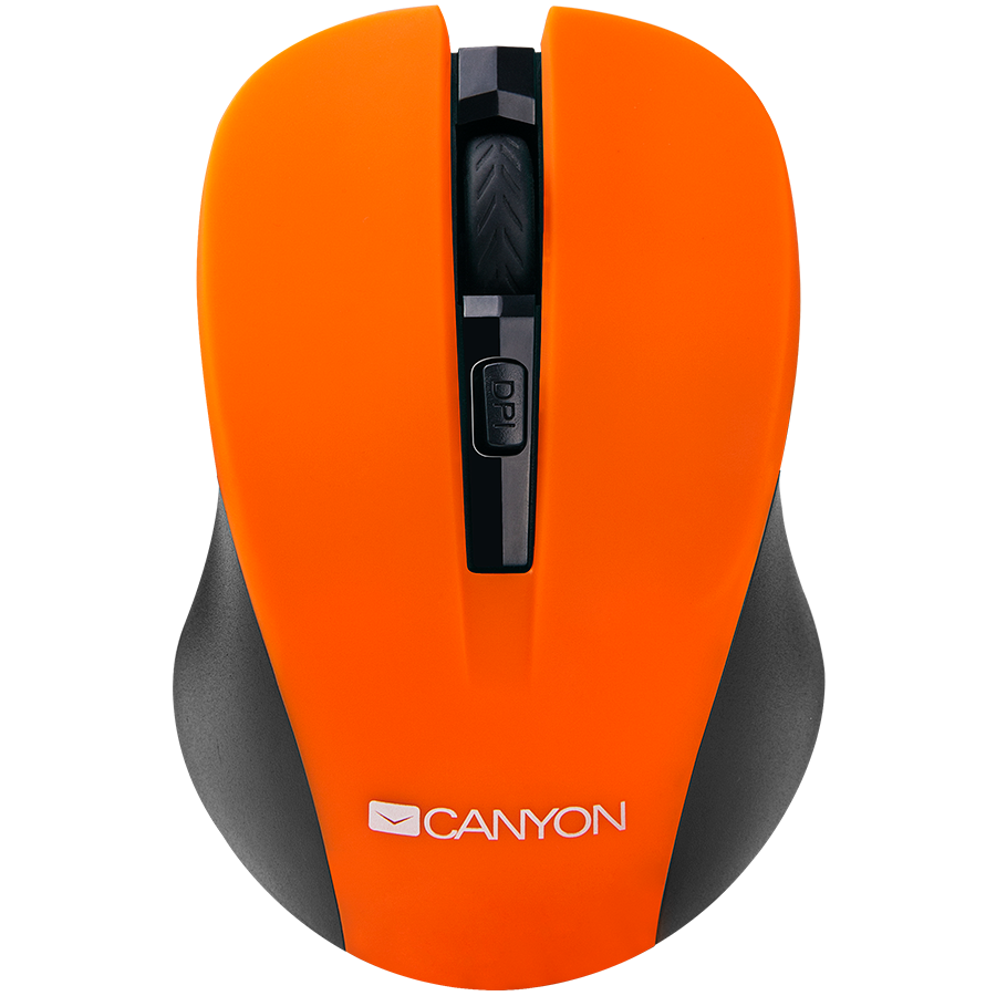 Input Devices - Mouse Box CANYON CNE-CMSW1O CANYON Mouse CNE-CMSW1(Wireless, Optical 800/1000/1200 dpi, 4 btn, USB, power saving button), Orange