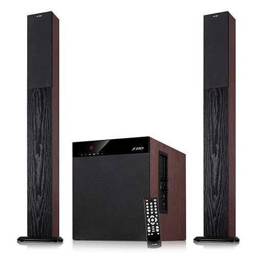 Multimedia - Speaker FENDA T-400X Multimedia - Speaker F&D T-400X (2.1, 100W, 400Hz-20kHz, Subwoofer: 20Hz-100Hz, USB/SD card reader, FM, Remote control, Wooden)